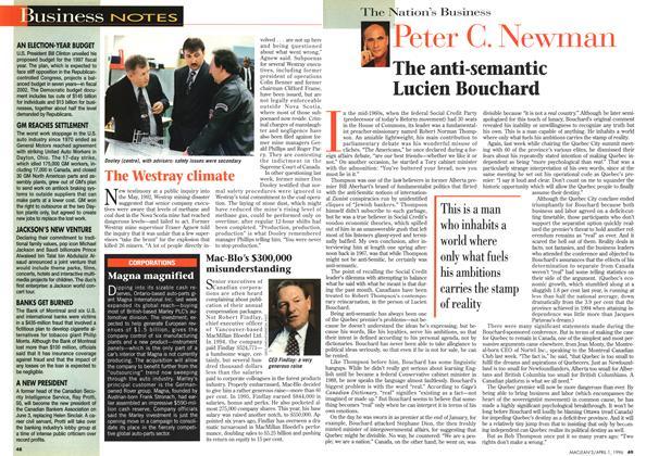 Article Preview: The anti-semantic Lucien Bouchard, April 1996 | Maclean's