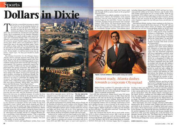 Article Preview: Dollars in Dixie, April 1996 | Maclean's