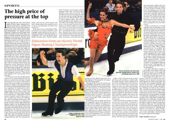 Article Preview: The high price of pressure at the top, April 1996   Maclean's