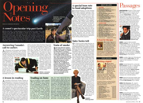 Article Preview: Opening Notes, April 1996 | Maclean's