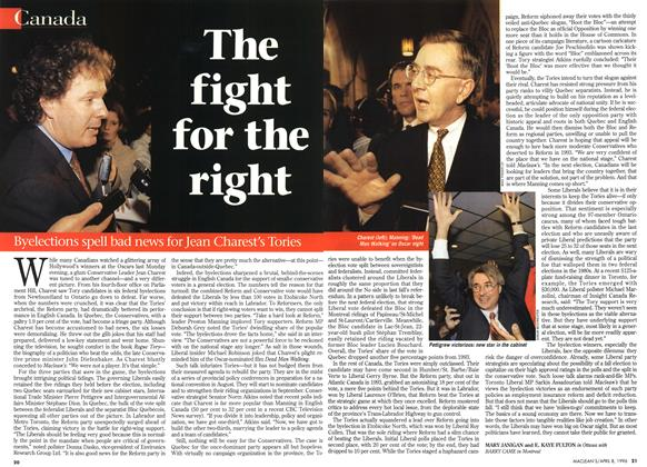 Article Preview: The fight for the right, April 1996 | Maclean's