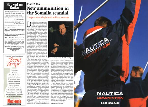 Article Preview: New ammunition in the Somalia scandal, April 1996   Maclean's