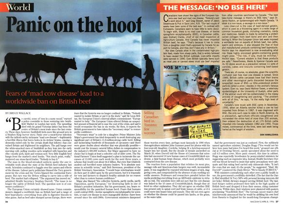 Article Preview: Panic on the hoof, April 1996 | Maclean's