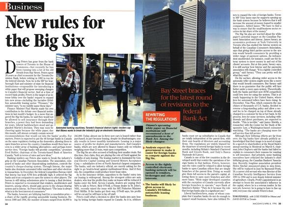 Article Preview: New rules for the Big Six, April 1996 | Maclean's
