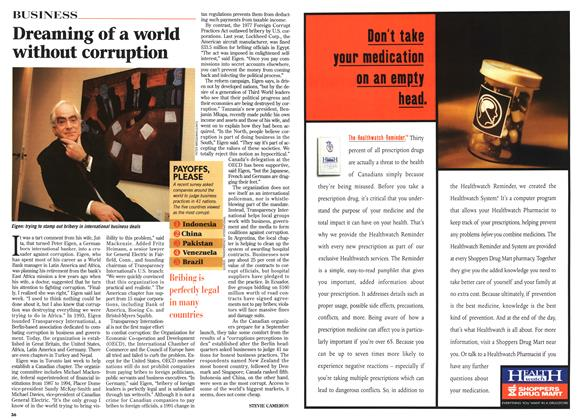 Article Preview: Dreaming of a world without corruption, April 1996 | Maclean's
