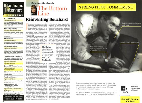 Article Preview: Reinventing Bouchard, April 1996 | Maclean's