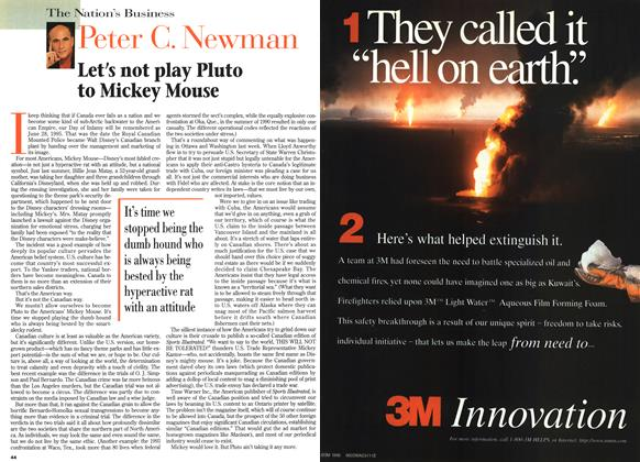 Article Preview: Let's not play Pluto to Mickey Mouse, April 1996 | Maclean's