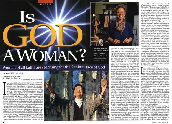 Article Preview: Is GOD A WOMAN?, April 1996 | Maclean's