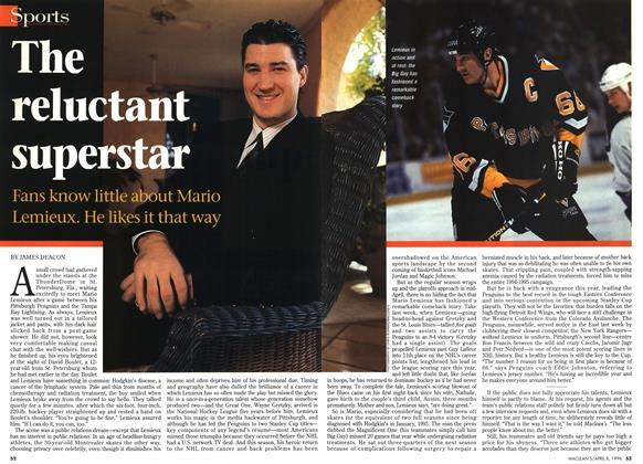 Article Preview: The reluctant superstar, April 1996 | Maclean's