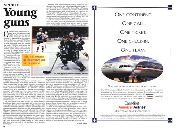 Article Preview: Young guns, April 1996 | Maclean's