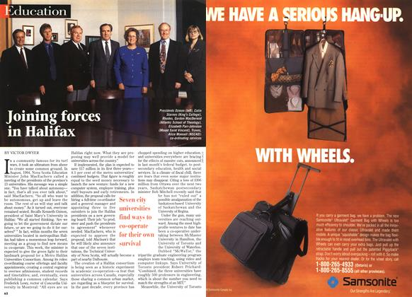 Article Preview: Joining forces in Halifax, April 1996 | Maclean's