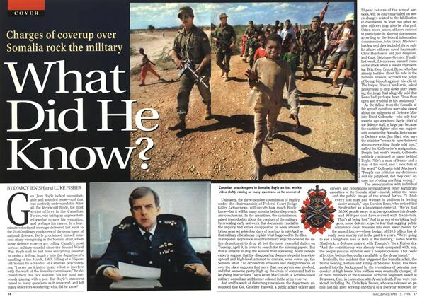 Article Preview: What Did He Know?, April 1996 | Maclean's