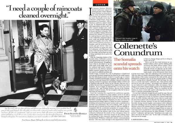 Article Preview: Collenette's Conundrum, April 1996 | Maclean's