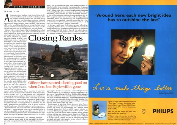 Article Preview: Closing Ranks, April 1996 | Maclean's
