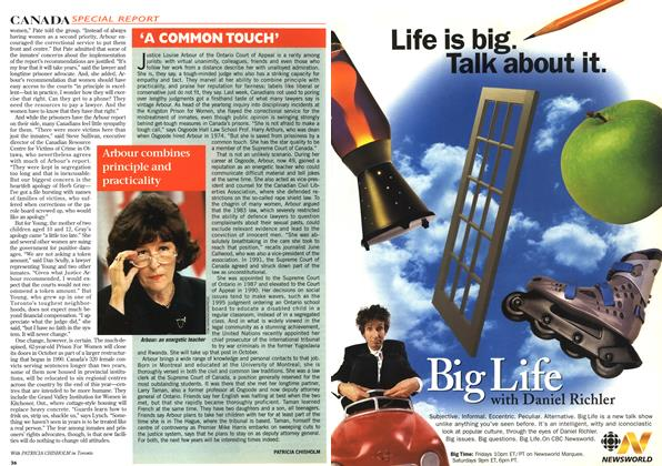 Article Preview: 'A COMMON TOUCH', April 1996 | Maclean's