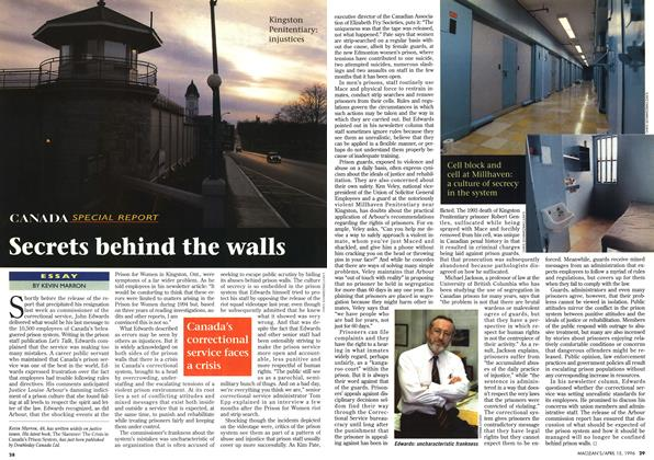 Article Preview: Secrets behind the walls, April 1996 | Maclean's