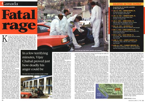 Article Preview: Fatal rage, April 1996 | Maclean's