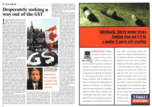 Article Preview: Desperately seeking a way out of the GST, April 1996 | Maclean's