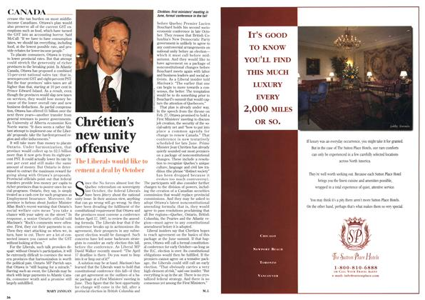 Article Preview: Chrétien's new unity offensive, April 1996 | Maclean's