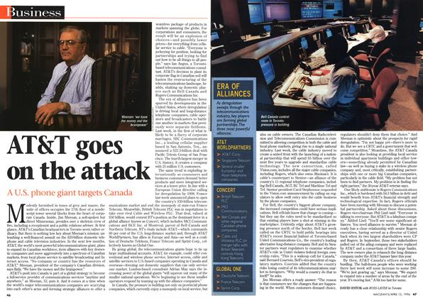 Article Preview: AT&T goes on the attack, April 1996 | Maclean's