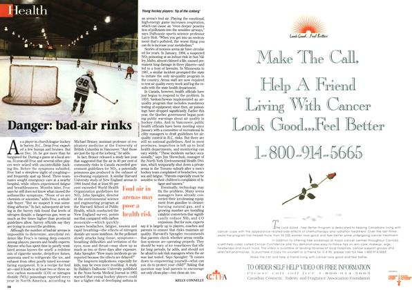 Article Preview: Danger: bad-air rinks, April 1996 | Maclean's