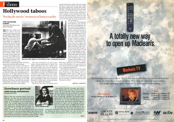 Article Preview: Hollywood taboos, April 1996 | Maclean's