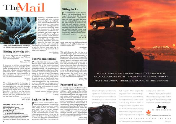 Article Preview: The Mail, April 1996 | Maclean's