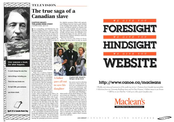 Article Preview: The true saga of a Canadian slave, April 1996 | Maclean's