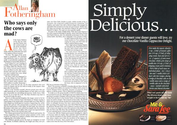 Article Preview: Who says only the cows are mad?, April 1996 | Maclean's
