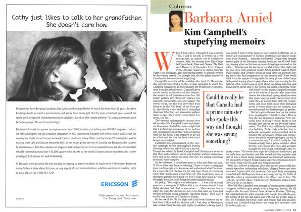 Article Preview: Barbara Amiel, April 1996 | Maclean's