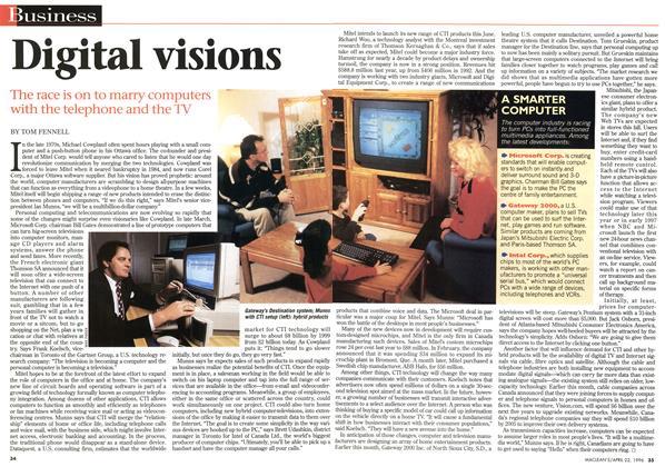 Article Preview: Digital visions, April 1996 | Maclean's