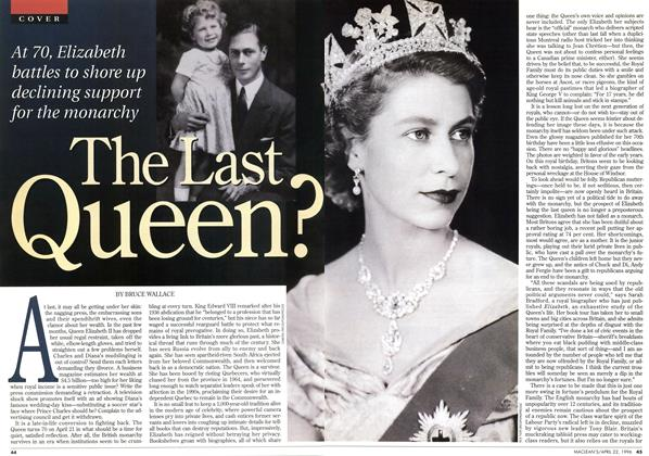 Article Preview: The Last Queen?, April 1996 | Maclean's