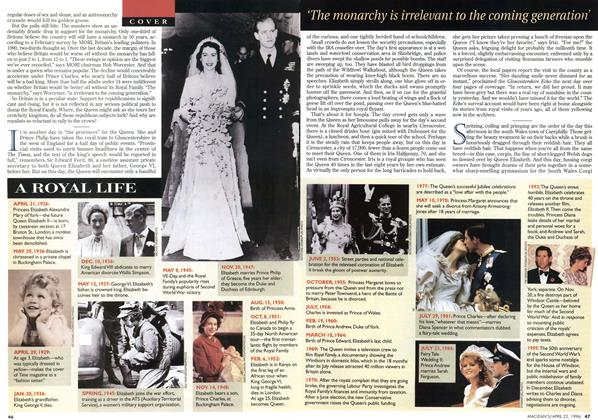 Article Preview: A ROYAL LIFE, April 1996 | Maclean's