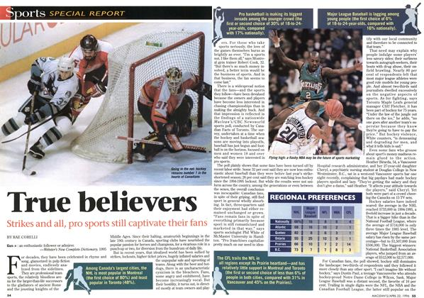 Article Preview: True believers, April 1996 | Maclean's