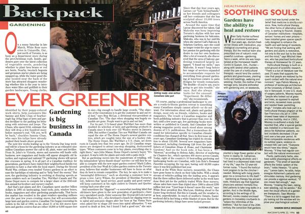 Article Preview: SOOTHING SOULS, April 1996 | Maclean's