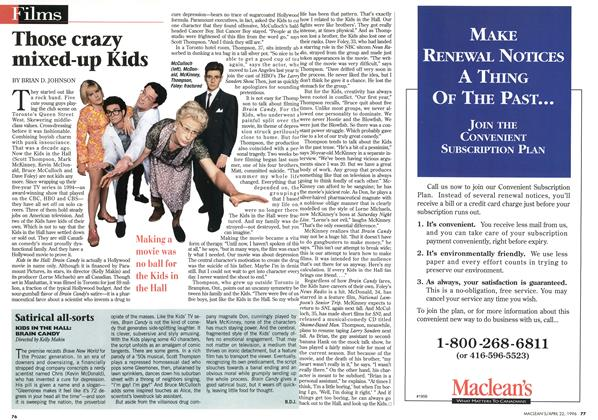 Article Preview: Those crazy mixed-up Kids, April 1996 | Maclean's