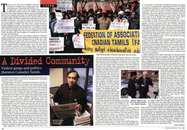 Article Preview: A Divided Community, April 1996 | Maclean's