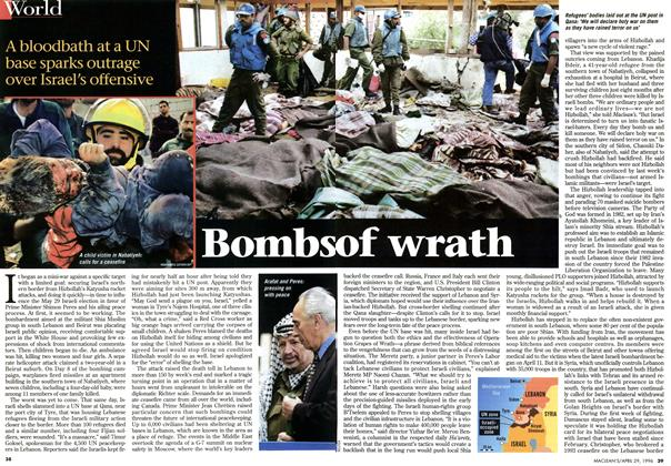 Article Preview: Bombs of wrath, April 1996 | Maclean's