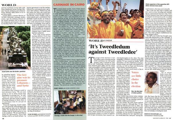 Article Preview: 'It's Tweedledum against Tweedledee', April 1996 | Maclean's