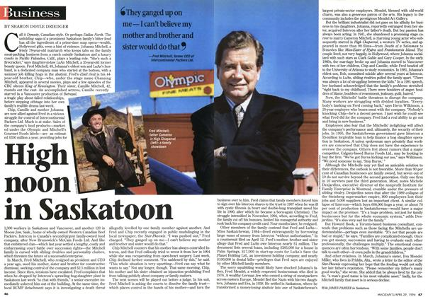 Article Preview: High noon in Saskatoon, April 1996 | Maclean's