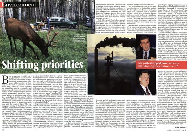 Article Preview: Shifting priorities, April 1996 | Maclean's