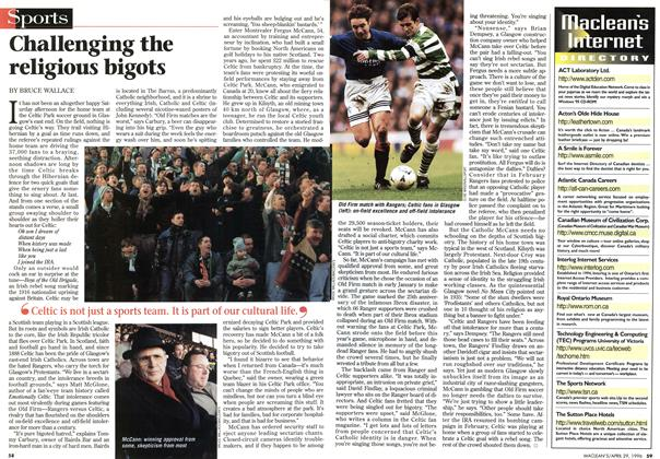 Article Preview: Challenging the religious bigots, April 1996 | Maclean's