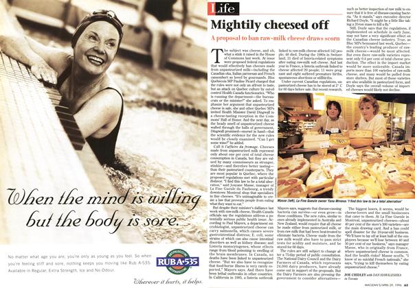 Article Preview: Mightily cheesed off, April 1996 | Maclean's