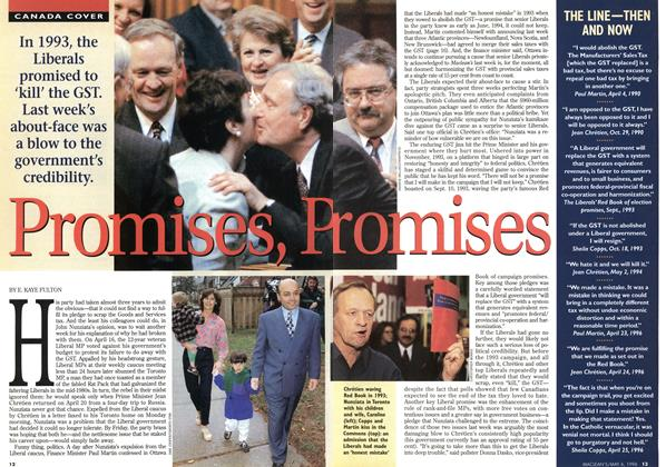 Article Preview: Promises, promises, May 1996 | Maclean's