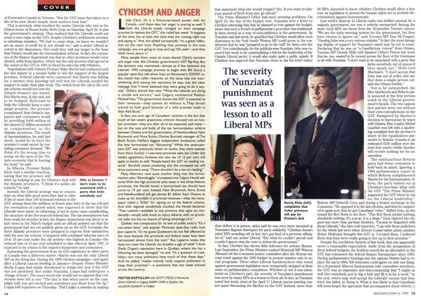 Article Preview: CYNICISM AND ANGER, May 1996 | Maclean's