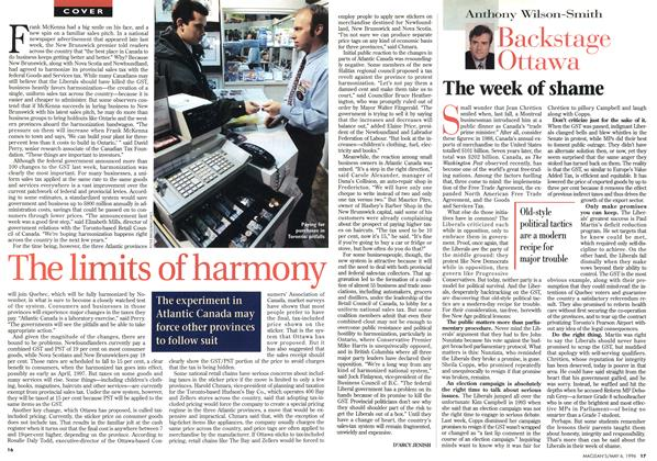 Article Preview: The limits of harmony, May 1996 | Maclean's