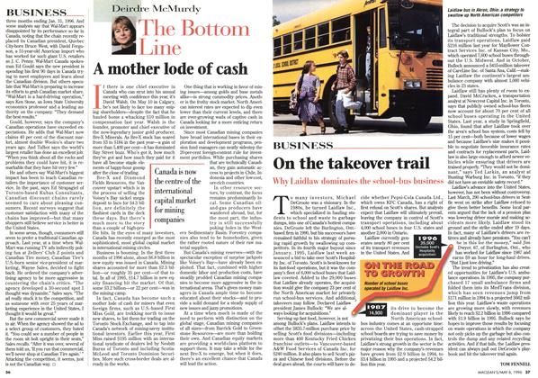 Article Preview: A mother lode of cash, May 1996 | Maclean's