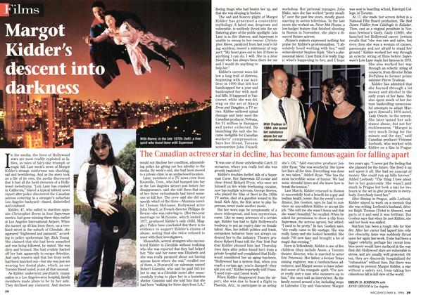 Article Preview: Margot Kidder s descent into darkuess, May 1996 | Maclean's