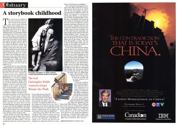 Article Preview: A storybook childhood, May 1996 | Maclean's