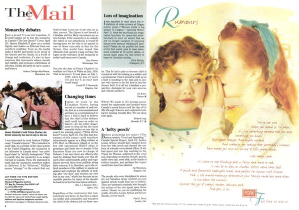 Article Preview: The Mail, May 1996 | Maclean's